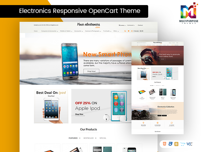 Best Blog Responsive OpenCart Themes For Electronics Store