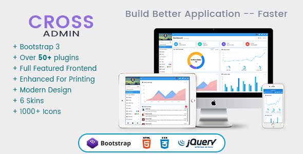 Cross – Awesome Bootstrap 3 Admin Templates