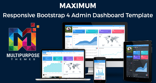 Maximum – Responsive Bootstrap 4 Admin Templates Dashboard