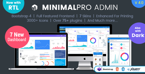 Minimal Pro – Responsive Bootstrap 4 Admin Dashboard Template & WebApp Template