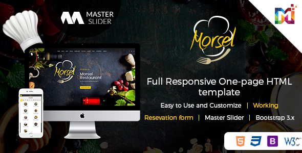 Morsel –  Cafe Responsive HTML5 Template