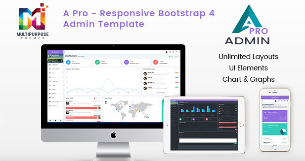 A Pro Dark – Responsive Bootstrap 4 Admin Template