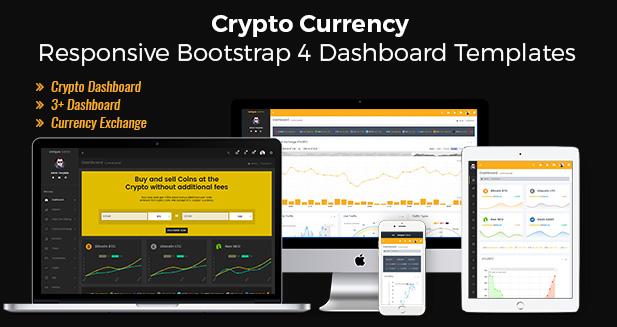 Crypto Bitcoin – UI Kit Responsive Bootstrap 4 Admin Templates