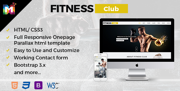 FIT – Parallax One Page Premium HTML Template