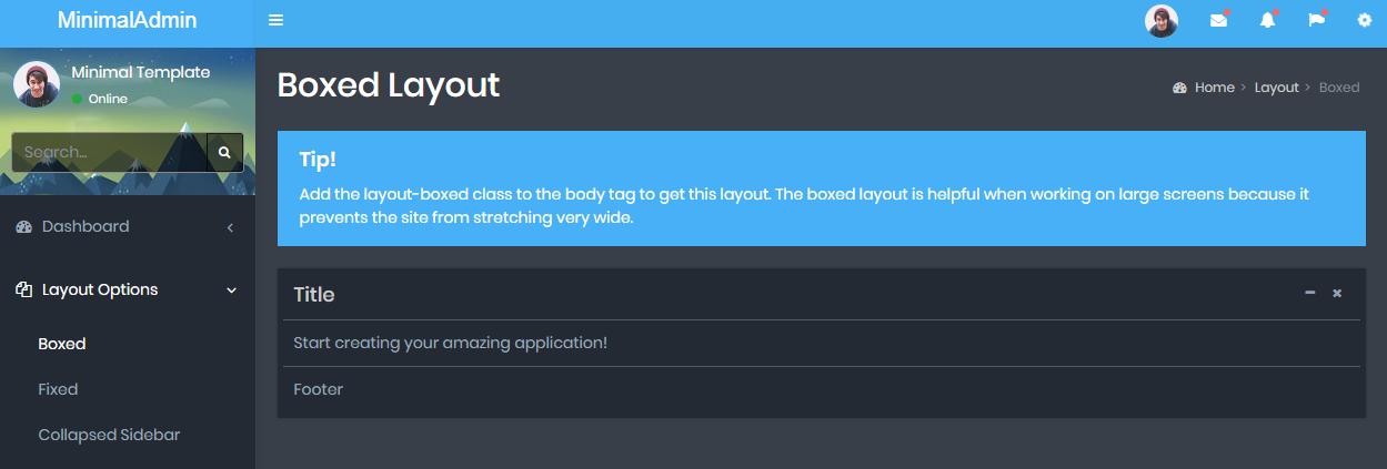 Dashboard Admin Templates
