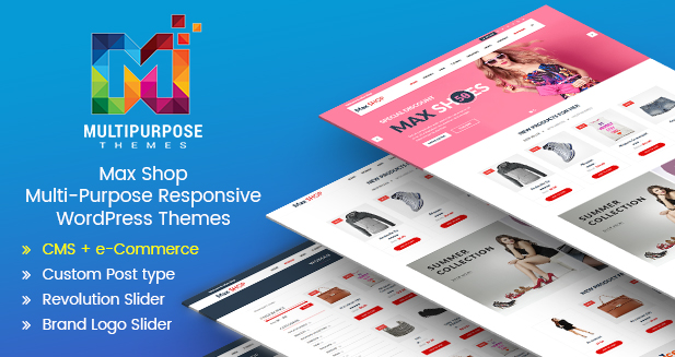Max Shop – Beautiful Premium Responsive WordPress Themes