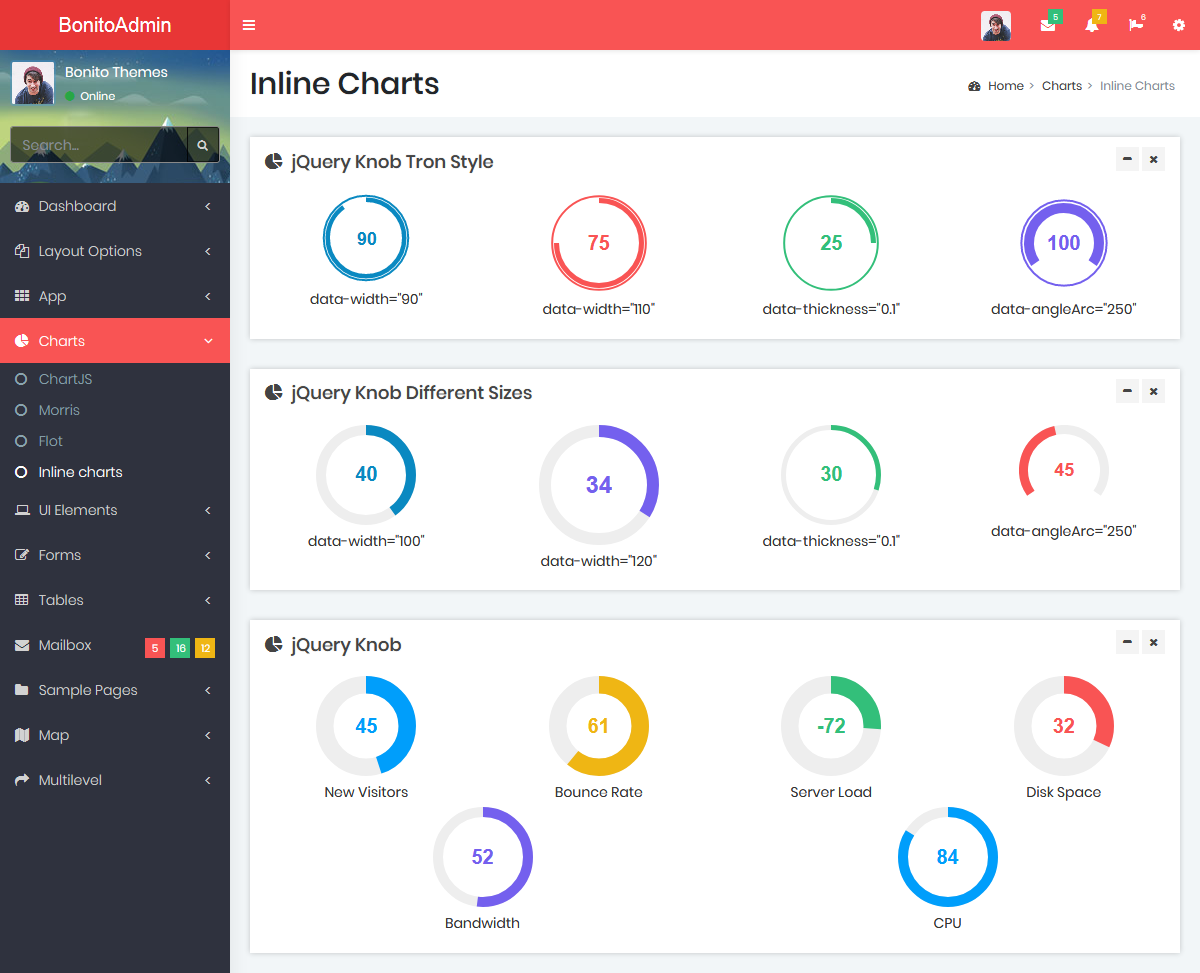 Bootstrap Admin Templates