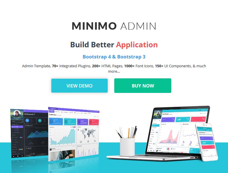 Minimo Pro – Premium Bootstrap Admin Templates