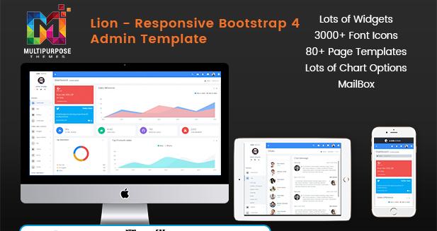 Lion Dark – Responsive Bootstrap Admin Templates