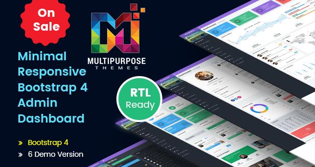 Minimal Dark – Responsive Bootstrap Admin Templates