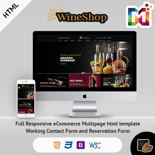 Wine Stock HTML – Multi-Purpose ECommerce Shopping Cart HTML Template