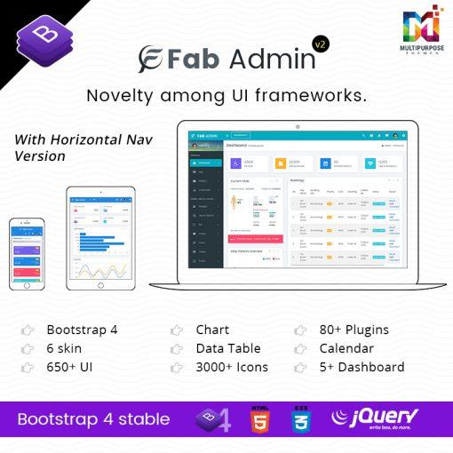 Fab Admin – Responsive Dashboard Admin Templates Web App