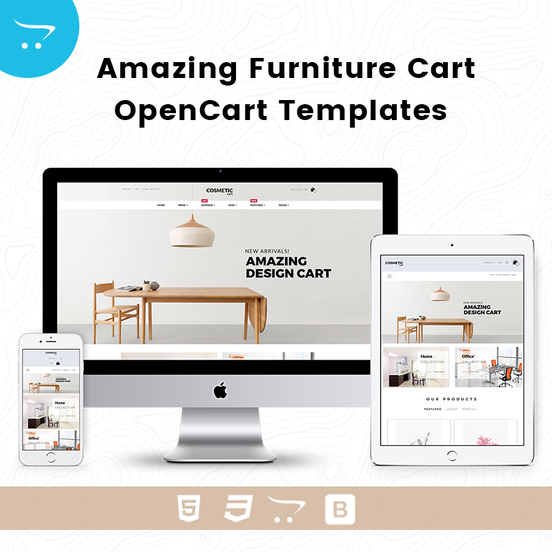 Amazing Furniture Cart – OpenCart Templates