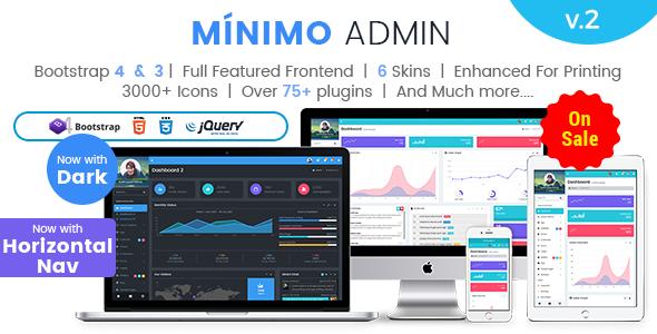 Minimo Pro Horizontal Nav- Responsive Bootstrap Admin Templates