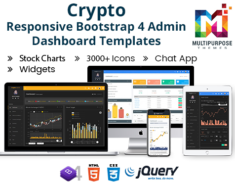 Crypto Stock  – Bootstrap Admin Templates & Dashboard