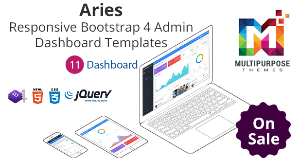 Aries RTL  – Responsive Bootstrap Admin Template & Dashboard