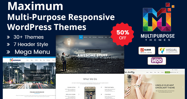 25+ Multipurpose Responsive WordPress Themes