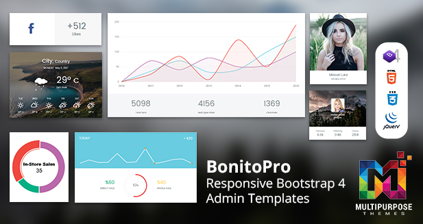 Bonito Pro – Bootstrap Admin Templates & Web Apps Dashboards