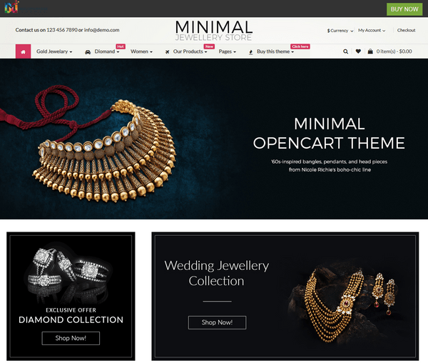 Responsive Opencart Themes For Shopping Cart Website