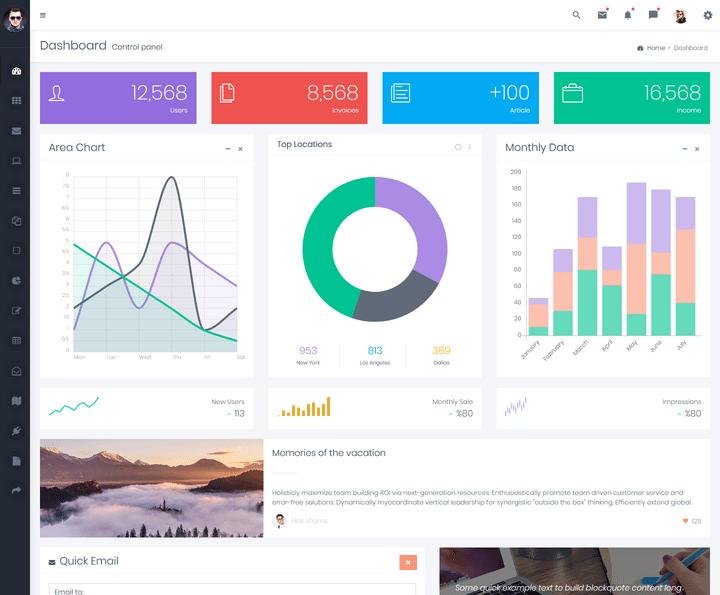 Lion Mini Sidebar Bootstrap Admin Templates For 2019