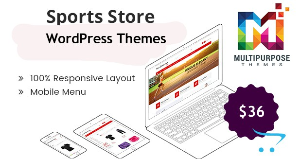 Sports Responsive WordPress Themes From MultiPurpose Themes