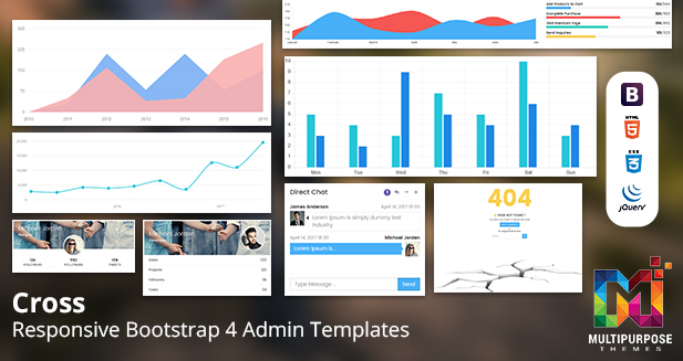 Cross – Multipurpose Bootstrap 3 Dashboard Admin Template