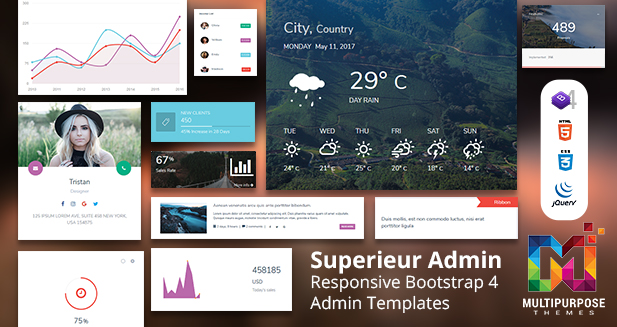 Superieur Dark Hospital – Multipurpose Admin Templates For Web Apps