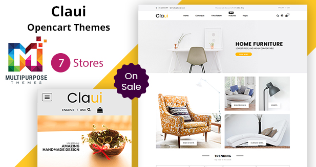 Claui Opencart Themes – Shopping Cart Websites By Our Developer