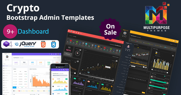 2019's Crypto Stock Dashboard – Bootstrap Admin Templates
