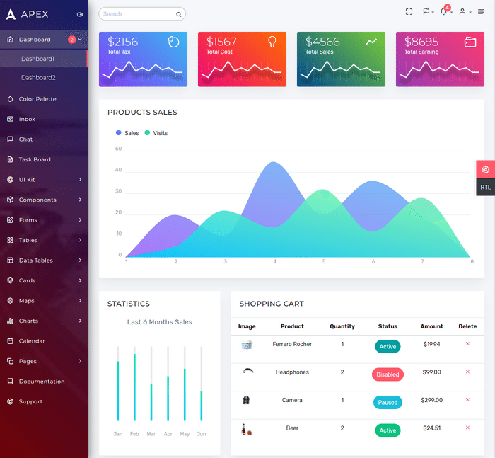 Looking For Best MultiPurpose Bootstrap Admin Templates 2018