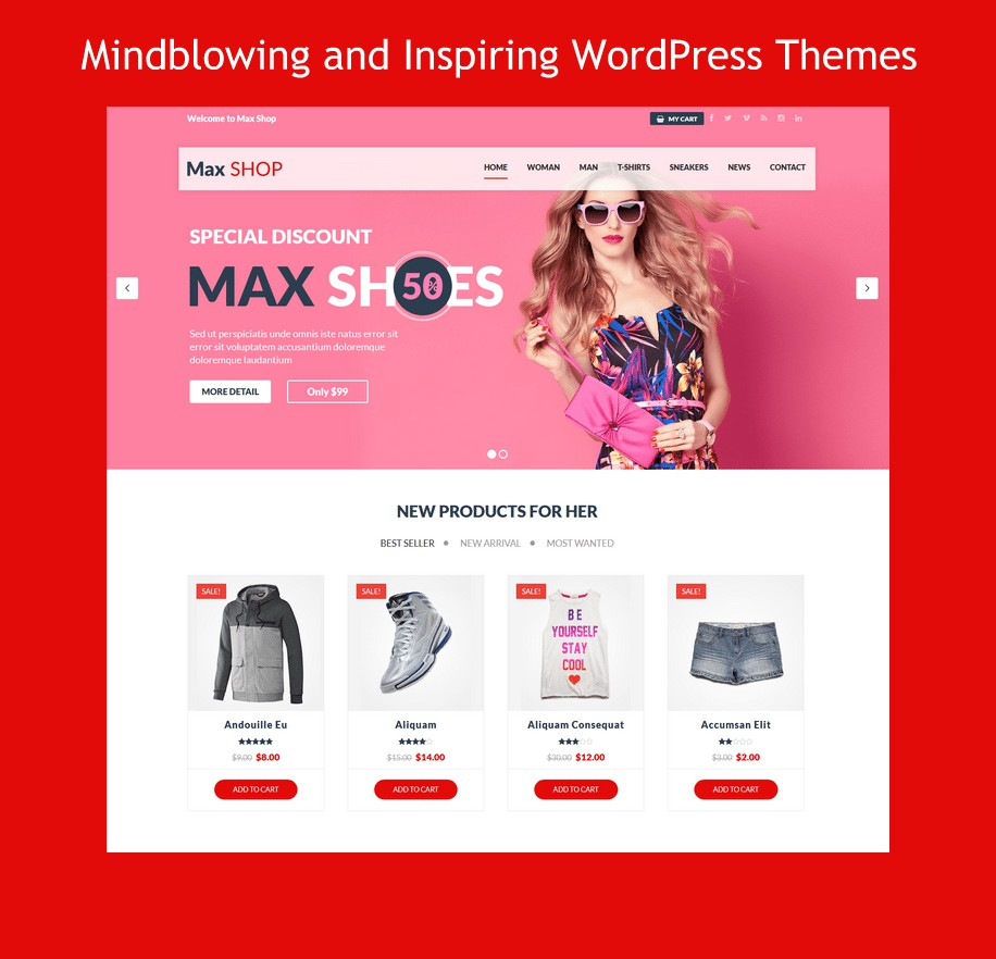 Mindblowing And Inspiring WordPress Themes Powered By MultiPurpose Themes