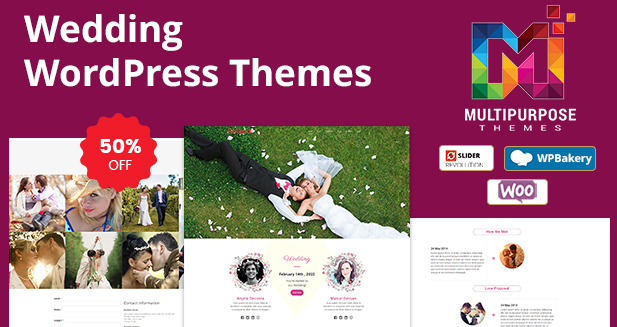 Responsive WordPress Themes For Wedding Purpose