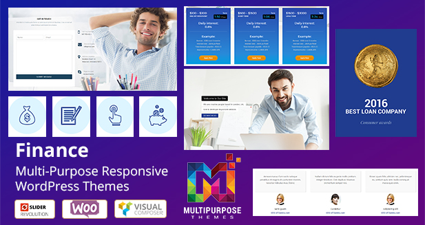 Finance Multipurpose Responsive WordPress Themes From MultiPurpose Themes