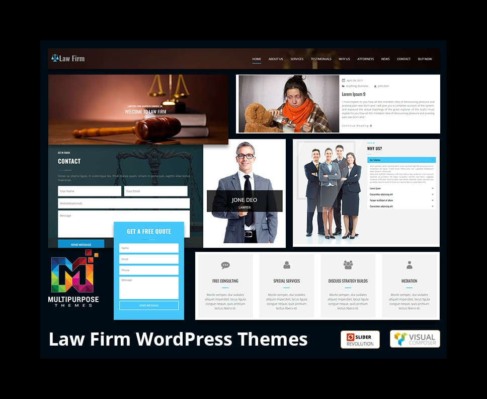 WordPress Themes Related To Lawyers Developed By MultiPurpose Themes