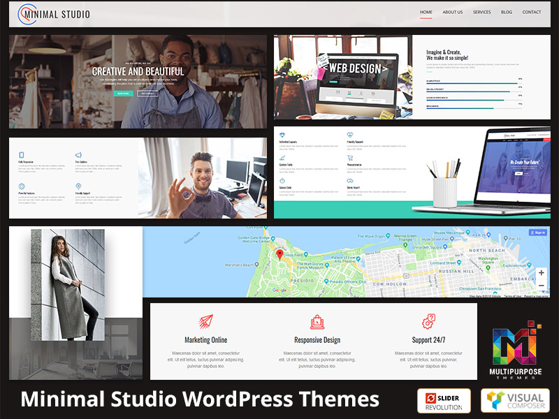 Minimal Studio Multi-Purpose Responsive WordPress Themes