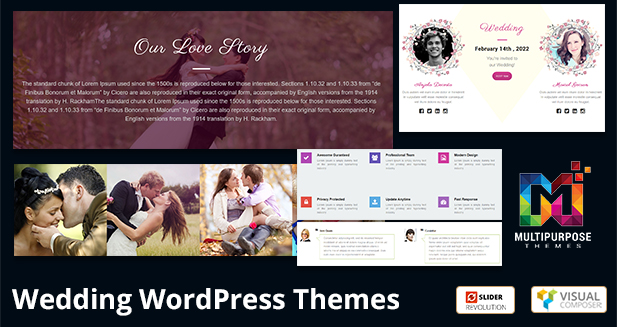 New WordPress Themes!! Wedding Responsive WordPress Themes