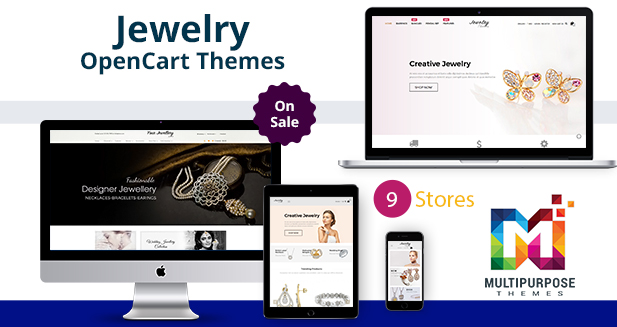 Jewelry – 8 Stores OpenCart Themes Just For $38