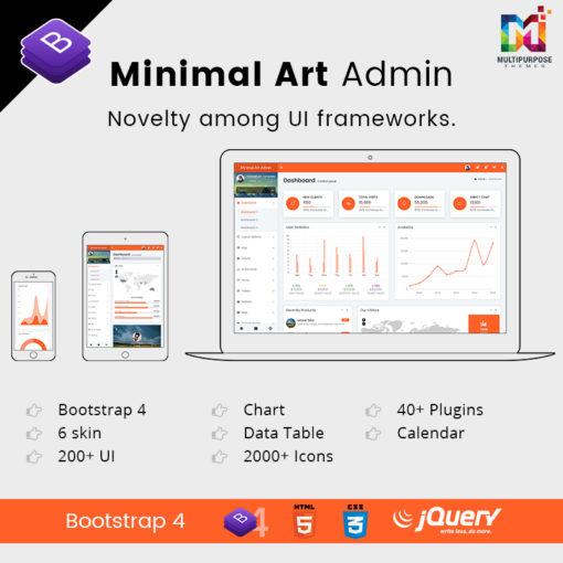 Minimal Art Admin – Responsive Bootstrap 4 Admin Dashboard & WebApp Templates