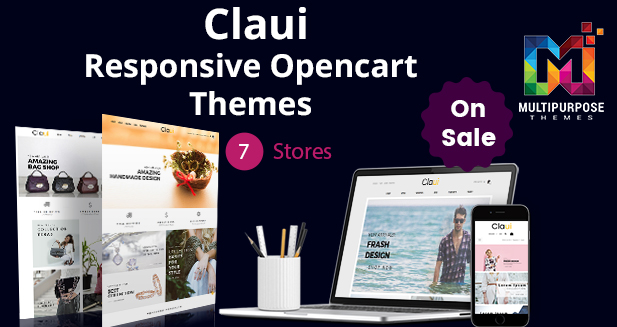 New Theme Just Launch!! 7 OpenCart Themes Store Just For $39