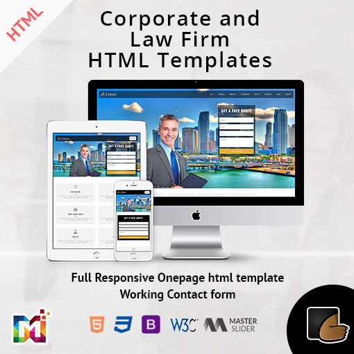 Responsive HTML Template One Page – Corporate And Law Firm