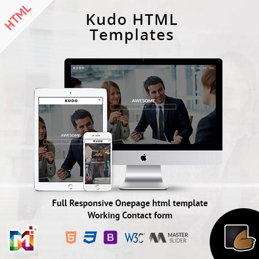 Kudo – Responsive Onepage HTML Template