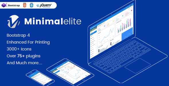 Minimal Elite Admin – Bootstrap 4 Admin Dashboard Templates And WebApps Templates