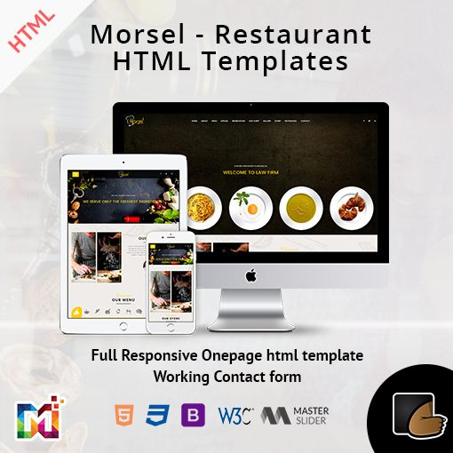 Morsel – Restaurant Lounge Cafe HTML5 Responsive Templates