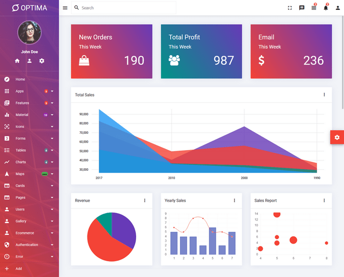 Bootstrap Admin Templates width=