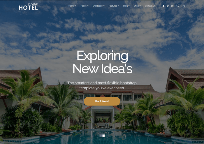 Divine Pro Hotel HTML Template For Multipurpose