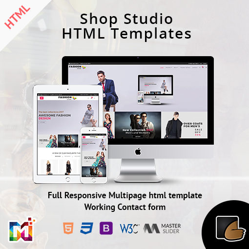 Shop Studio – Responsive ECommerce HTML Template
