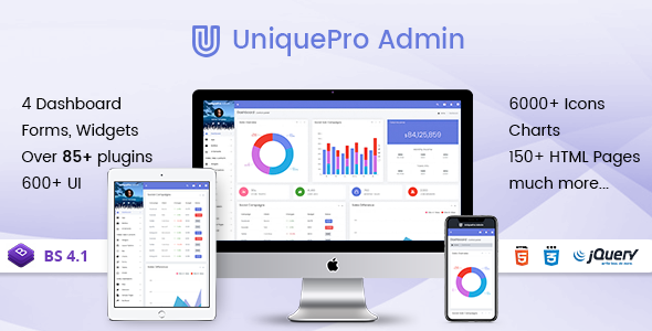 UniquePro Admin – Bootstrap 4 Responsive Admin Templates & Web Apps Dashboards