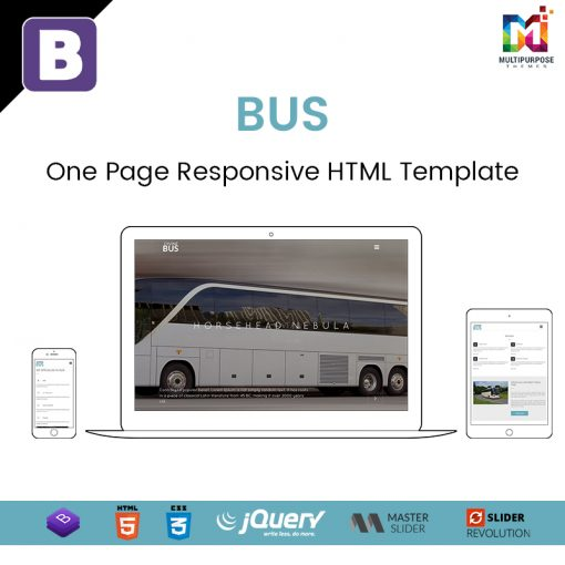 Bus – One Page Responsive HTML Template