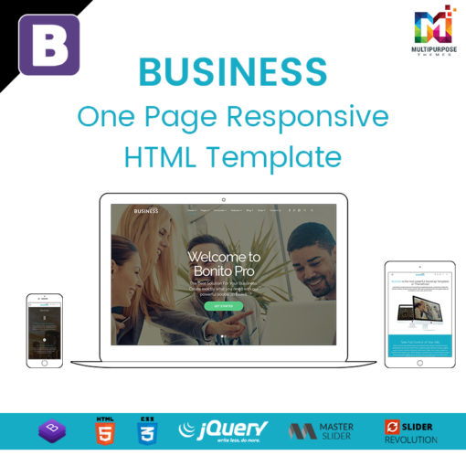 Business – One Page Responsive HTML Template