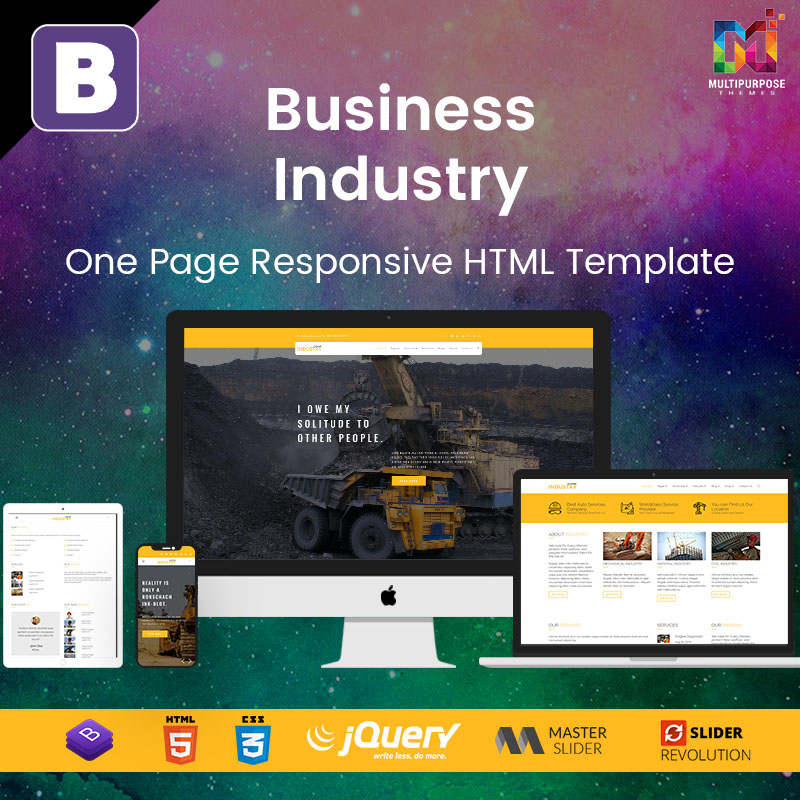 Business Industry – One Page Responsive HTML Template